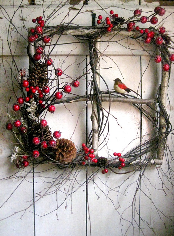 40 Comfy Rustic Outdoor Christmas Dcor Ideas DigsDigs