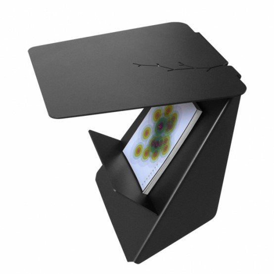 Compact Accent Table Black