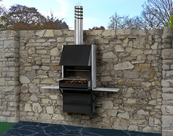 Compact Barbecue Grill Plek 66 By Rocal