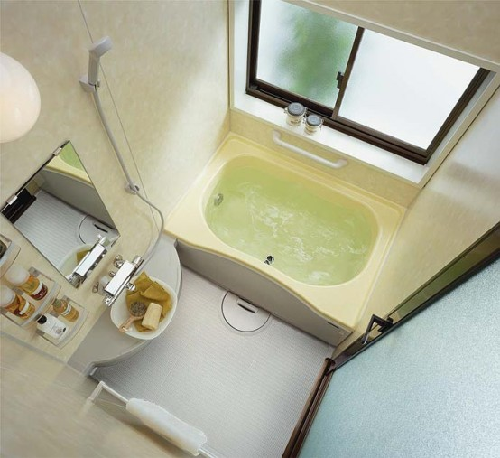 Compact and small bathroom layouts from inax digsdigs for Compact bathroom layout