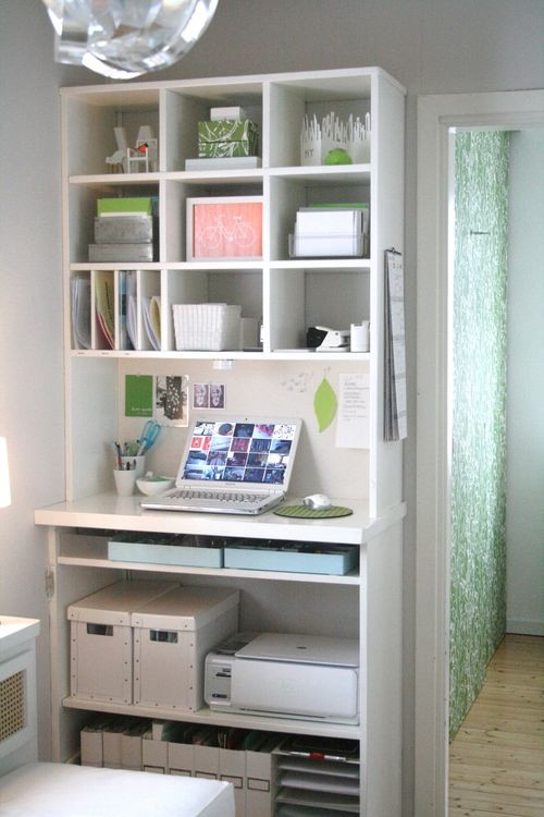 57 cool small home office ideas digsdigs - Small space decorating blog decor ...