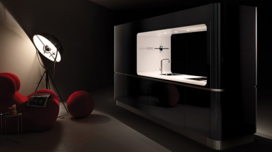 Compact Liquida Frame Kitchen From Veneta Cucine