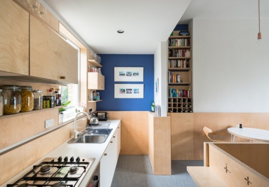 Compact Modern Apartment With Lots Of Plywood In Decor