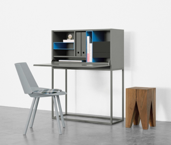 compact nota bureau to save some space digsdigs. Black Bedroom Furniture Sets. Home Design Ideas