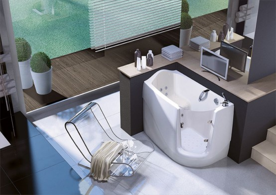 Space Saving Walk-In Bathtub – Gen-X by Treessee