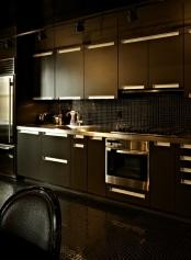 Completely Black Apartment Design