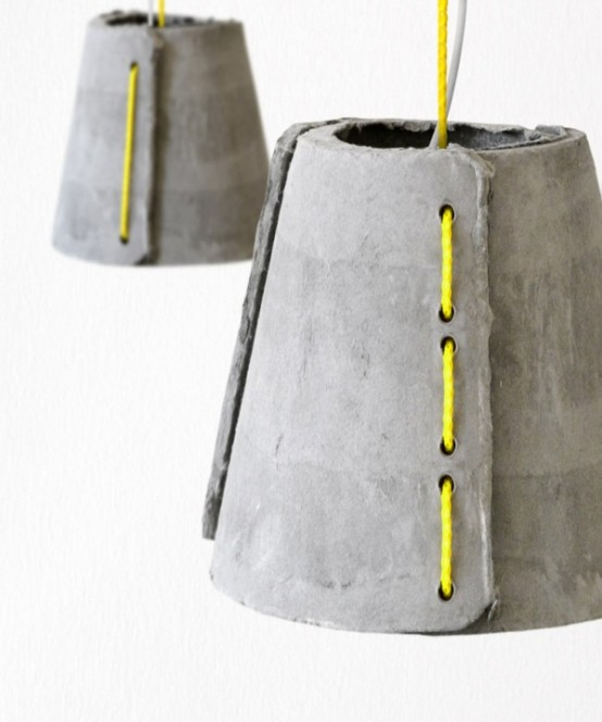 Concrete Outdoor Pendant Lamps