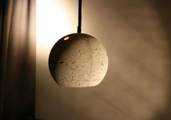 Concrete Pendant Lamps With Industrial Chic