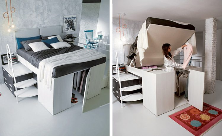 Etonnant Smart Bed Designed With A Hidden Closet Underneath