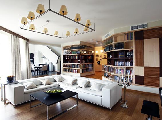 Contemporary Interior Design of Two-Level Apartment   DigsDigs