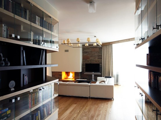 Contemporary 2 Level Apartment Interior Design