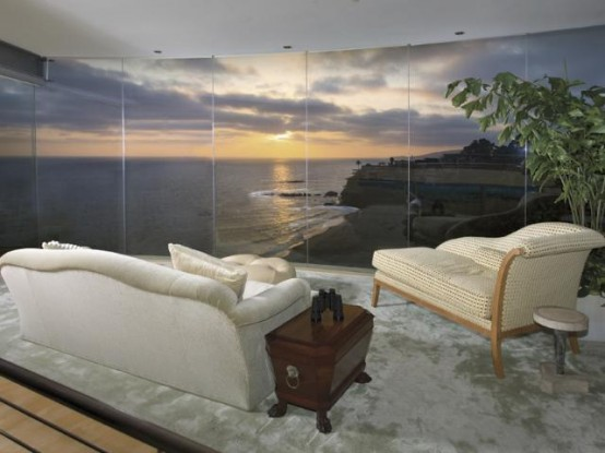Contemporary Beach House With Transparent Glass Wall