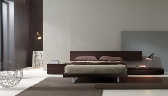 Contemporary Bedroom Layouts with MisuraEmme's Beds | DigsDigs