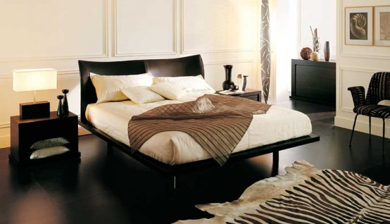 Contemporary Bedroom Layouts with MisuraEmme's Beds