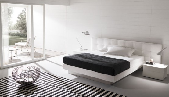 Contemporary Bedroom Layouts With Misuraemmes Beds