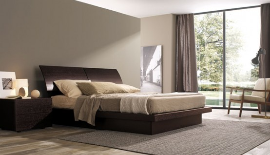 Contemporary bedroom layouts with misuraemme 39 s beds digsdigs for Misuraemme bed