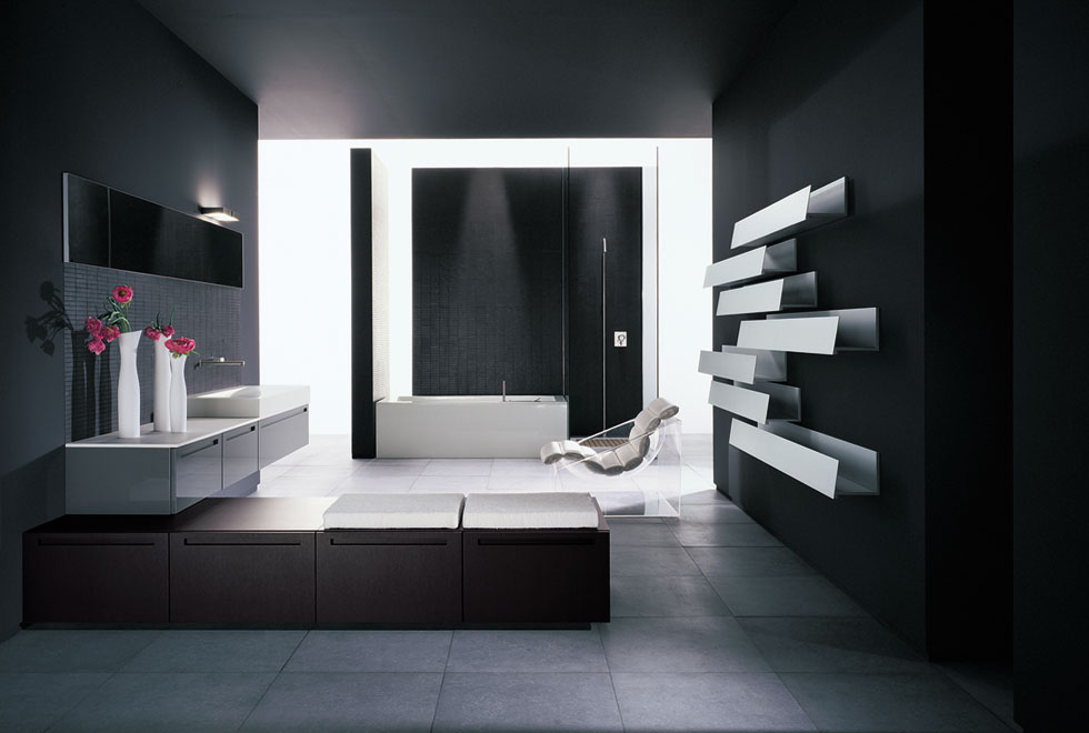 bathroom design modern inspiring house | Very Big Bathroom Inspirations from Boffi - DigsDigs