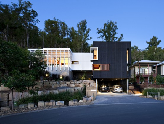 Contemporary Black And White House