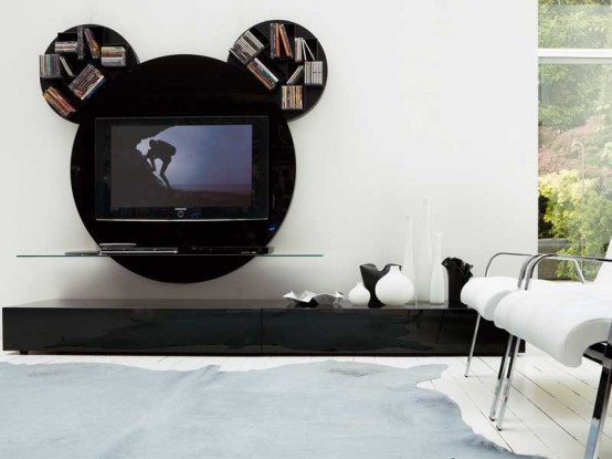 Contemporary Black Tv Stand