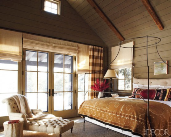 Contemporary Country Bedroom With An Anthropologie Canopy Bed