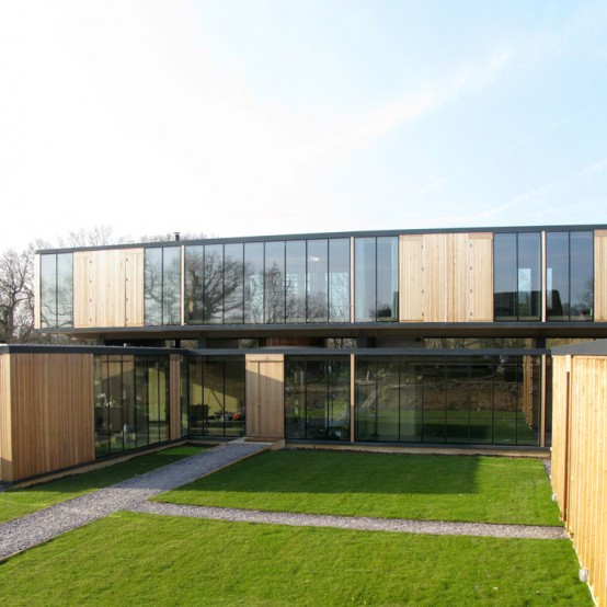 Contemporary Family House Combined of a Series of Rectangular Volumes