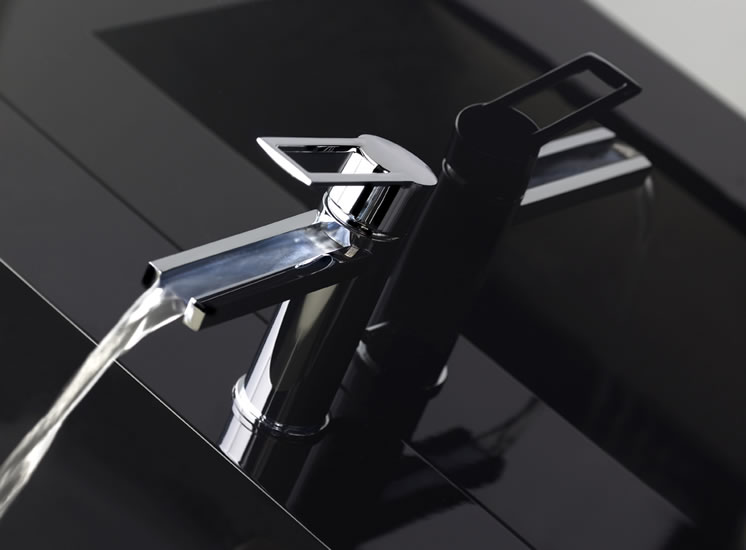 Contemporary Waterfall Faucets - Riflessi from Gessi - DigsDigs
