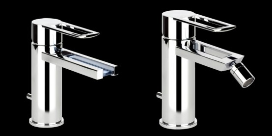 Contemporary Faucets Like Waterfall