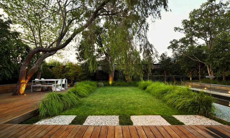 Contemporary garden design by eckersley garden for Modern backyard landscaping