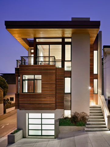Contemporary House On Slopping Site