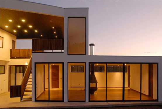 Contemporary House With Two Levels Exterior Terrace