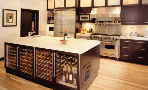 Dream Kitchen Idea for Wine Lovers - DigsDigs