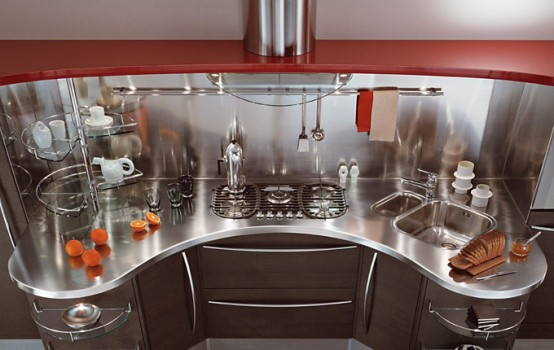 Contemporary Kitchens With Curved Tops Skyline By Snaidero