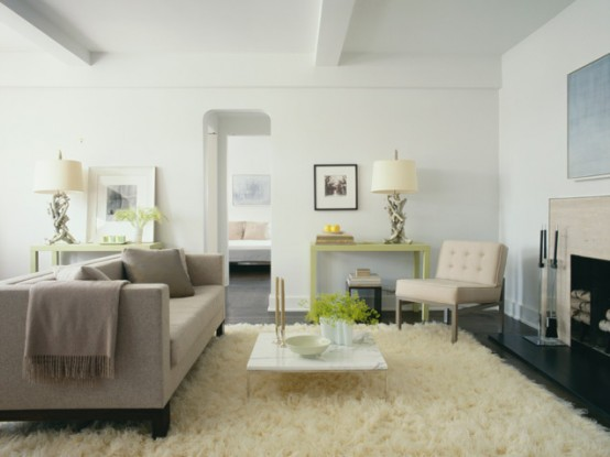 Contemporary Living Room In Neutral Colors