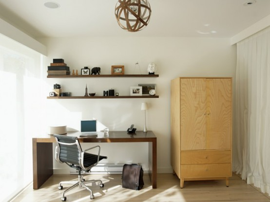 Contemporary Neutral Home Office