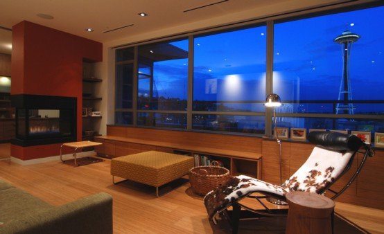 Contemporary Two-Story Penthouse Interior Design by BUILD LLC