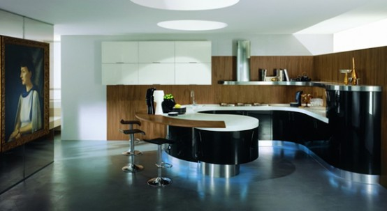 Contemporary Rounded Kitchen Domina By Stemik Living