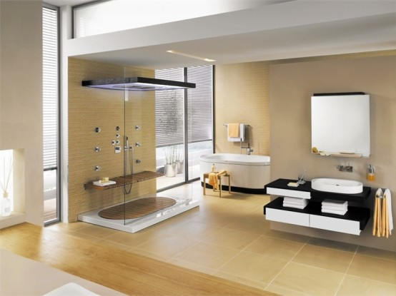 Contemporary Bathroom Set with Natural Touch – SensareMare from ...