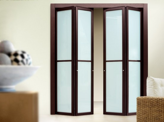 Contemporary Slim Folding Doors