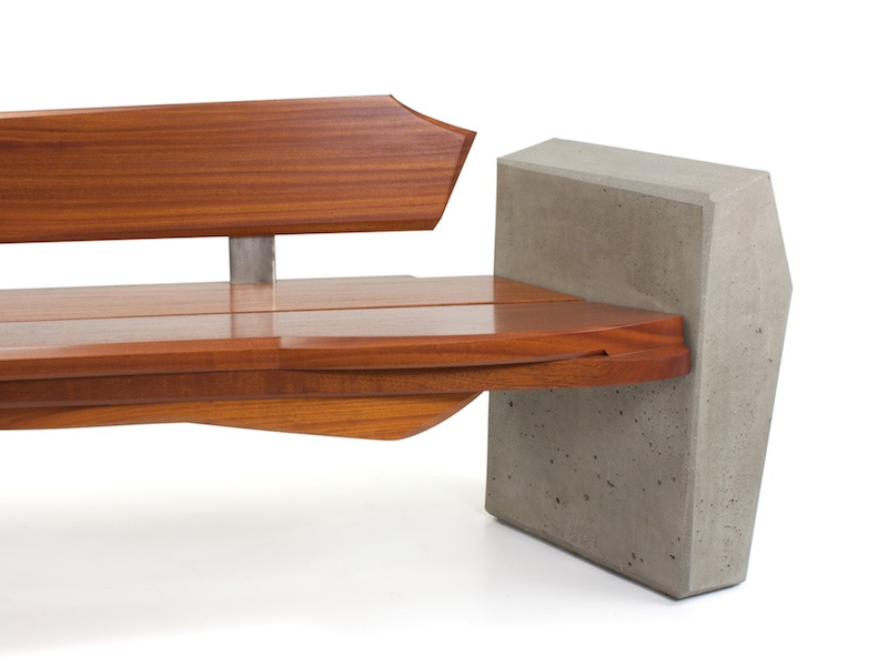 Contemporary And Sleek Yet Natural Outdoor Bench By Nico