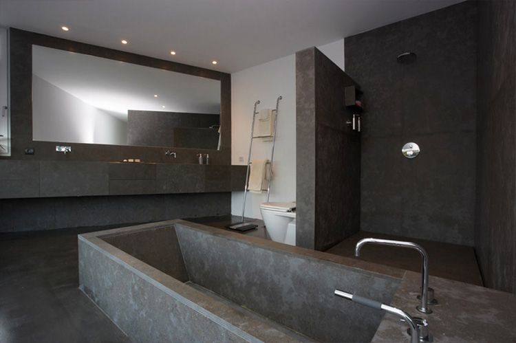 Contemporary Style Concrete House - Santander house by A ... on Modern:kkgewzoz5M4= Small Bathroom  id=16115