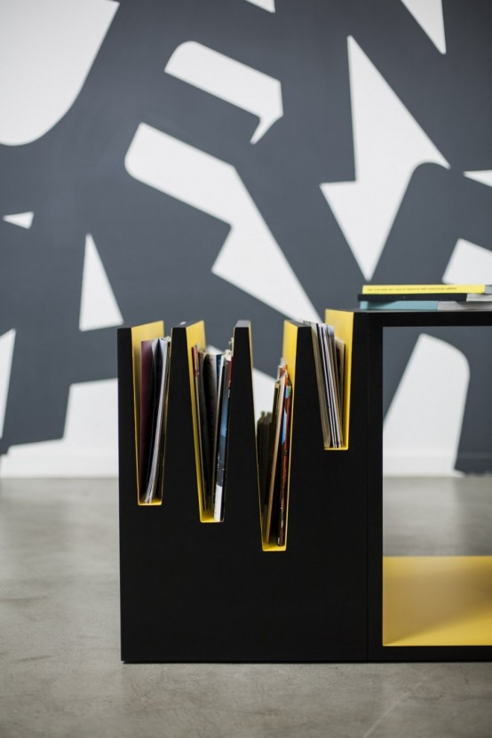 Contrasting Black And Yellow Coffee Table By Brigada