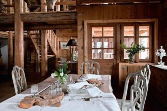 Convenient Chalet Dining Zones