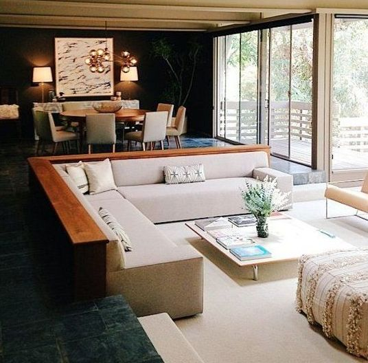 Conversation Pit Comeback: 30 Cool Design Ideas