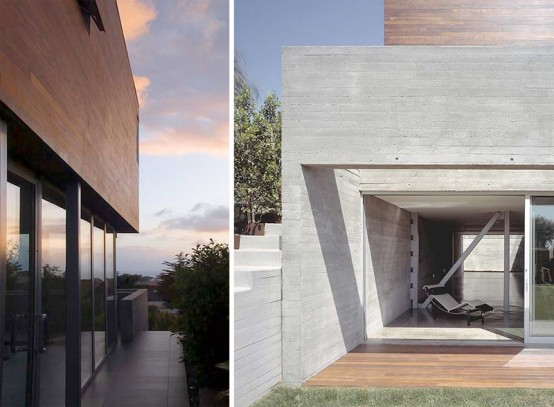 Convertible Adjacent Houses with Wood Clad Top by Sebastian Mariscal