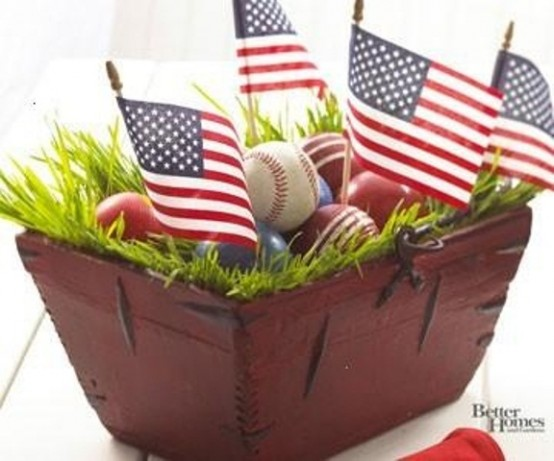 Cool 4th July Centerpieces In National Colors