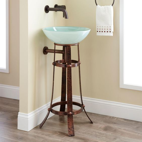 Picture Of cool and creative sink stands for any bathroom  11