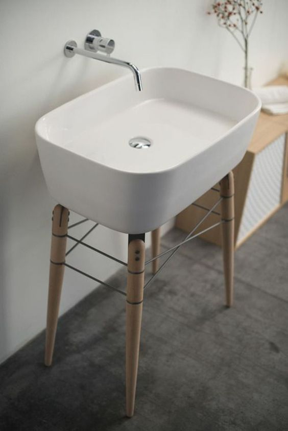 Bathroom Sink With Stand : 25 Cool And Creative Sink Stands For Any Bathroom - DigsDigs