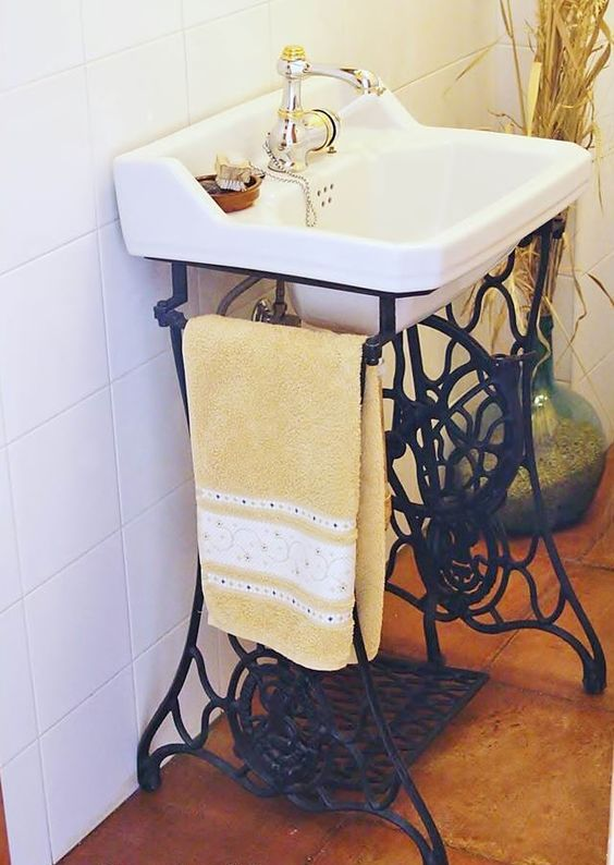 Picture Of cool and creative sink stands for any bathroom  9