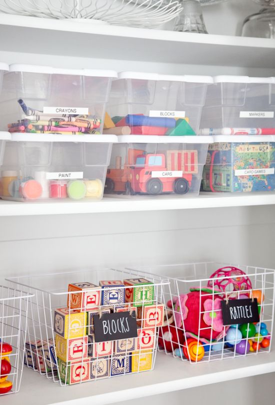 Picture Of cool and easy kids toys organizing ideas  11