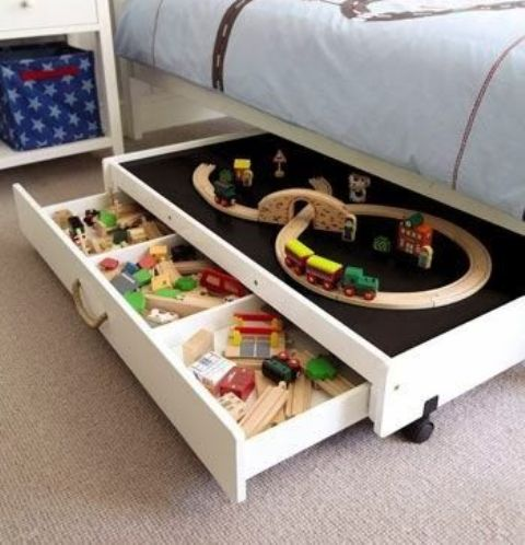 Picture Of cool and easy kids toys organizing ideas  13